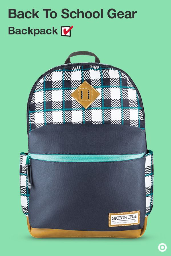 Our back to school backpacks for kids come in bright colors and cool designs for every kind of student from K–12. This Skechers Plaid Backpack is made to coordinate with their wardrobe. Plus, it's bursting with functionality, with dual main zippered compartments, interior laptop sleeve, front internal organizers, padded back, adjustable mesh shoulder straps and more.