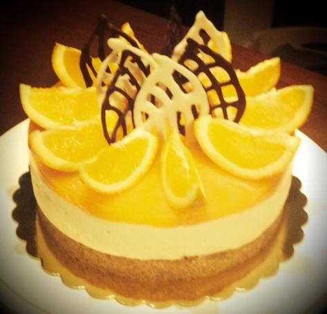 Delicious orange cake