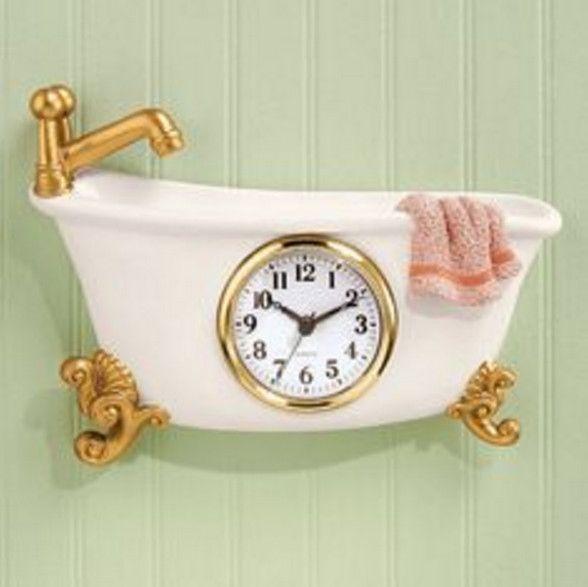 battery operated bathroom wall clocks
