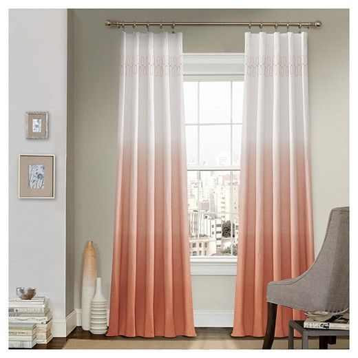 White Lined Ring Top Curtains