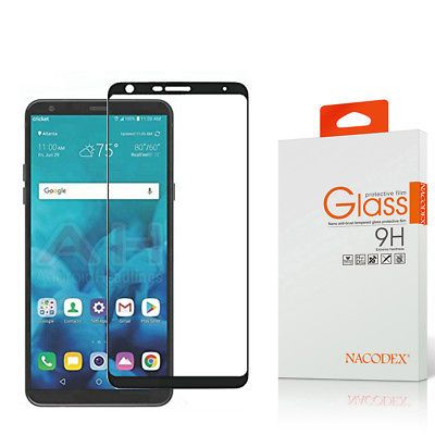 02d22553dcc872 Nacodex For LG Stylo 4 2018 Full Cover Tempered Glass Screen Protector - Black