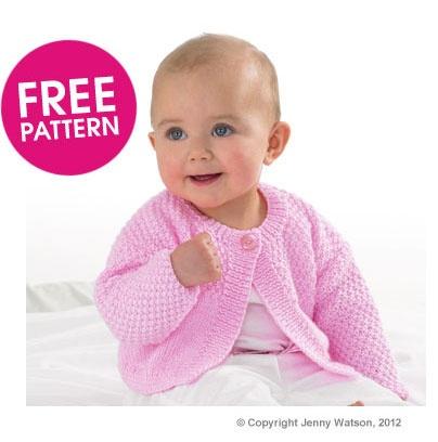 Free Pattern - Jenny Watson Cute Cardigan Knit Along   Deramores