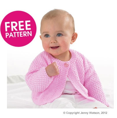 Free Pattern - Jenny Watson Cute Cardigan Knit Along Deramores Knitting a...