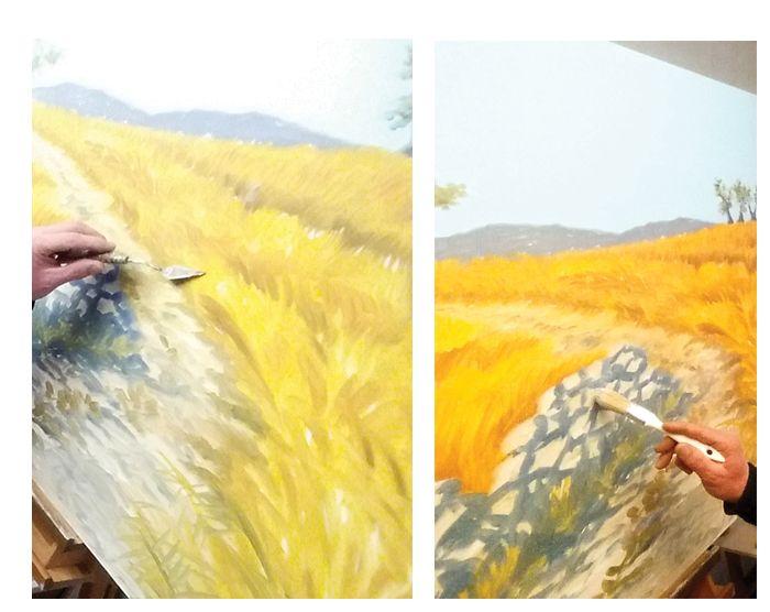 L'arte è un'astrazione: spremetela dalla natura sognando di fronte ad essa e preoccupatevi più della creazione che del risultato. (Pal Gauguin) painting, oil on canvas, marco saporiti, italian painter