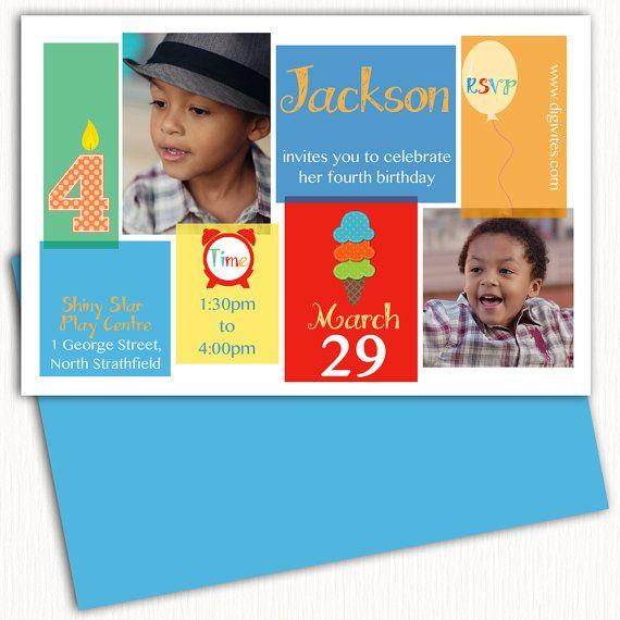photo Birthday Invitation/1st Birthday Invitation/Boy by Digivites