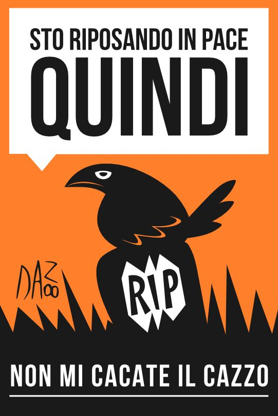 Il nostro Dan8 dice la sua su #halloween. Con rinnovata serenità.  #sarcasmo #cinismo #ironia #umorismo #corvo #lapide
