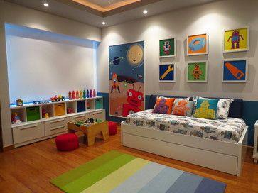 Robot Toddler room - contemporary - kids - other metro - Leire Sol García Asch