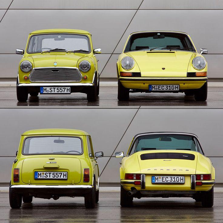 50 anni (e più) e non sentirli! La Porsche 911 è su strada dal 1963 e per il cinquantesimo anniversario ne è stata prodotta una versione speciale e in edizione limitatissima. L'evento è stato così di richiamo che anche Mini Cooper ha rispolverato un suo cavallo di battaglia! Ma tra le due, a quale dona di più il giallo? #autounica