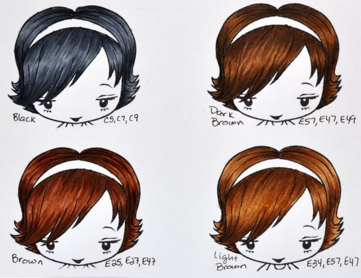 copic hair colors - need to work out some matches for Promarkers