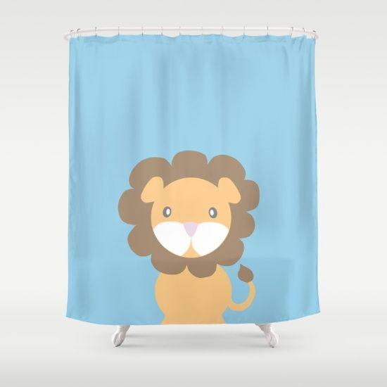 Adorable Lion shower curtain by Printable Project https://society6.com/printablecraft