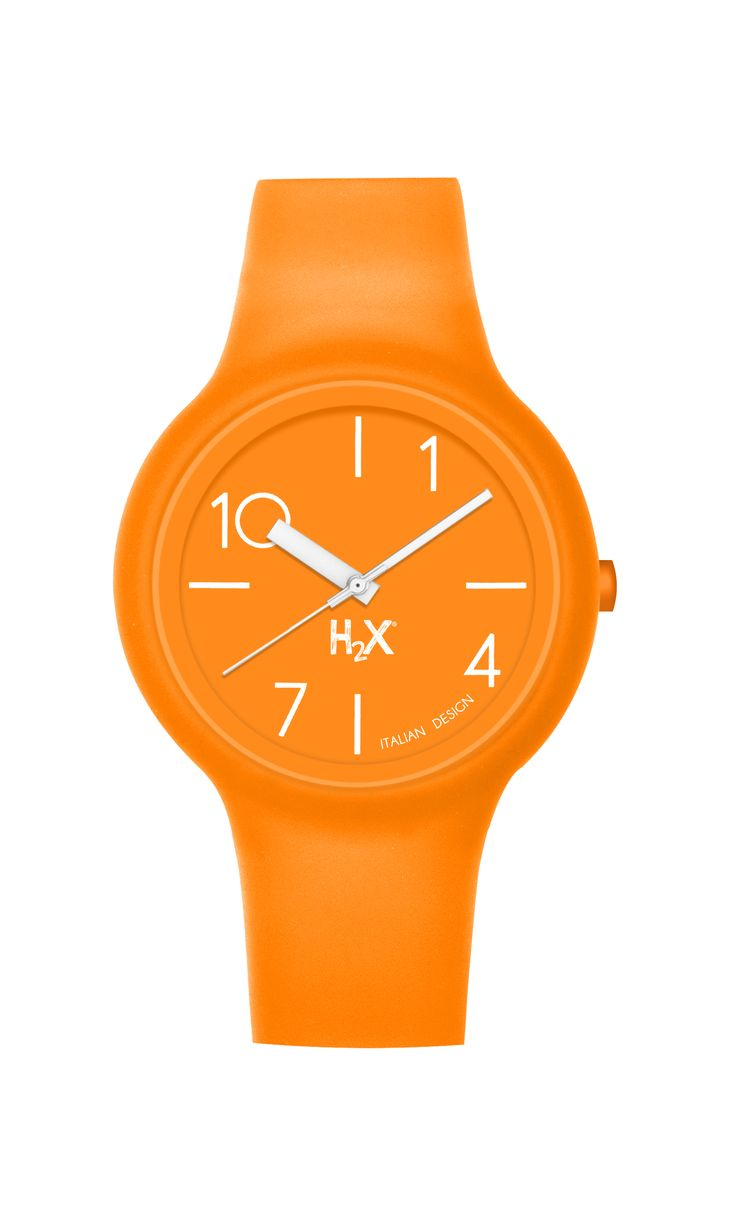OROLOGIO H2X ONE LADY: arancione, ma anche in colori pastello, con teschi e brillantini...