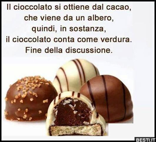 Il cioccolato si ottiene dal cacao