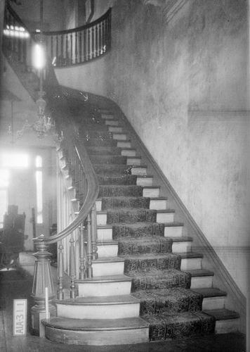 staircase in Rocky Hill Plantation Courtland vicinty AL 1935 Photo