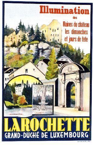 La Rochette - crca 1930 Luxembourg vintage poster