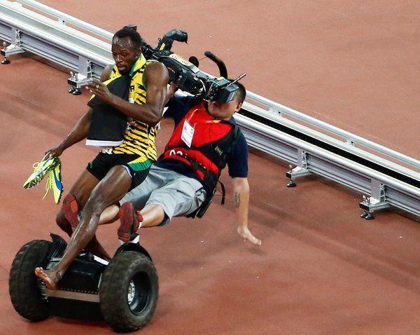 Único homem que pode derrubar Usain Bolt: Um fotógrafo em um Segway - The New York Times