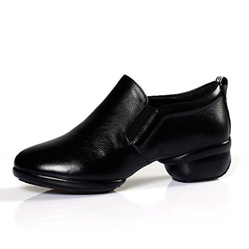 modern/Jazz dance shoes/Square dancing shoes soft bottom/Fitness Shoes-B Foot length=24.3CM(9.6Inch)