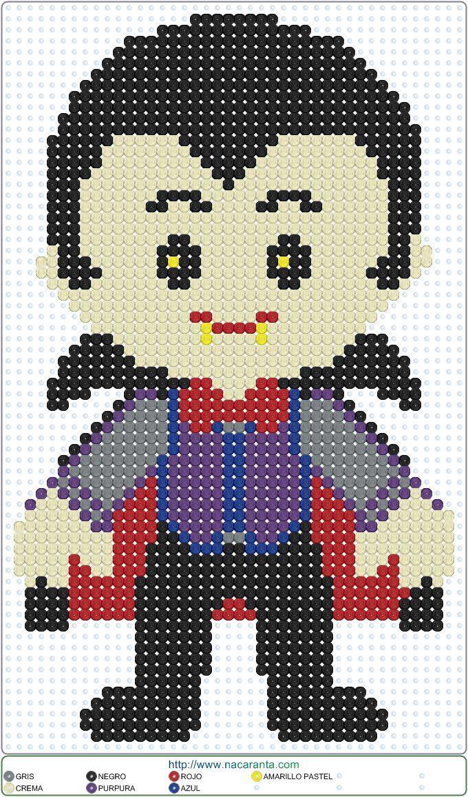 Dracula Halloween Perler Bead Pattern