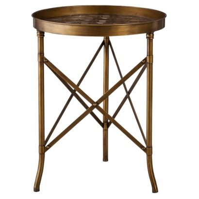 This Target table looks SO luxe but is only $60. Can glam up a room or add a rustic element. It's love.