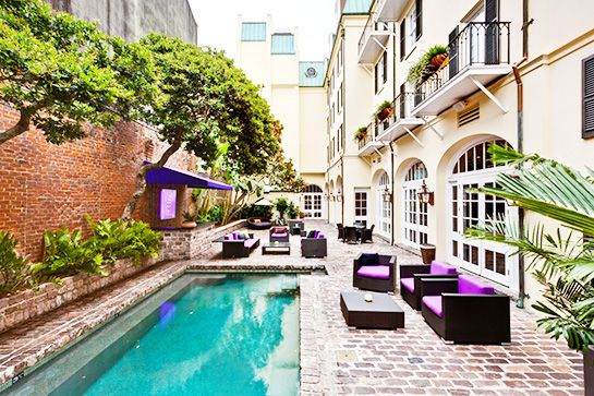 Hotel Le Marais, New Orleans  Tucked away in the French Quarter of New Orleans, Hotel Le Marais is an affordable and luxury find.