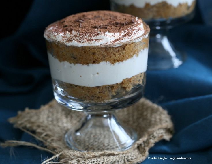 These Vegan Tiramisu Trifles have layers of soft vegan sponge cake and whipped coconut cream, cocoa and deliciousness. Soy-free.
