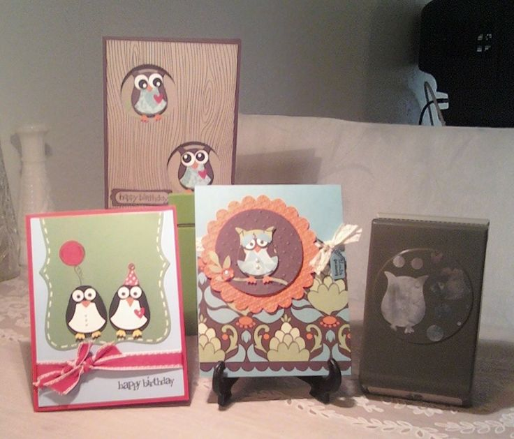 DOGG AND PONY SHOW: Owl punch cards - love that Stampin' Up owl punch!