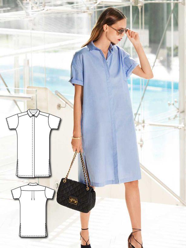 ... | Linen dress pattern, Wrap dress patterns and Shirt dress diy