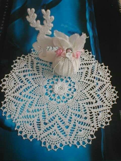 crocheted lace doilie by Babu Szabo