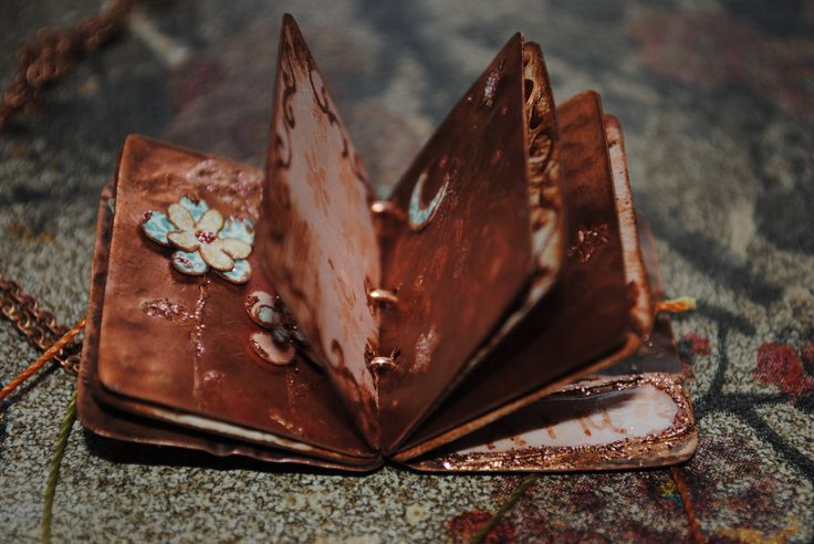 handmade book necklace