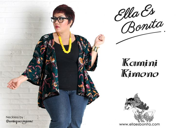 Kamini Kimono - This kimono features high quality batik cotton which specially designed for sophisticated curvy women originally made by Indonesian Designer & Local Brand: Ella Es Bonita. Available at www.ellaesbonita.com