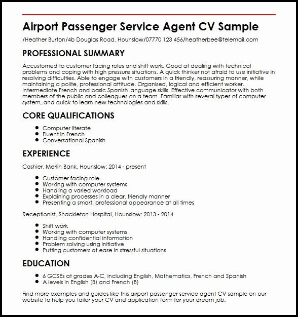 Ramp Agent Job Description Resume Unique Airport Passenger Service Agent Cv Sample Myperf Job Resume Samples Medical Assistant Resume Good Objective For Resume