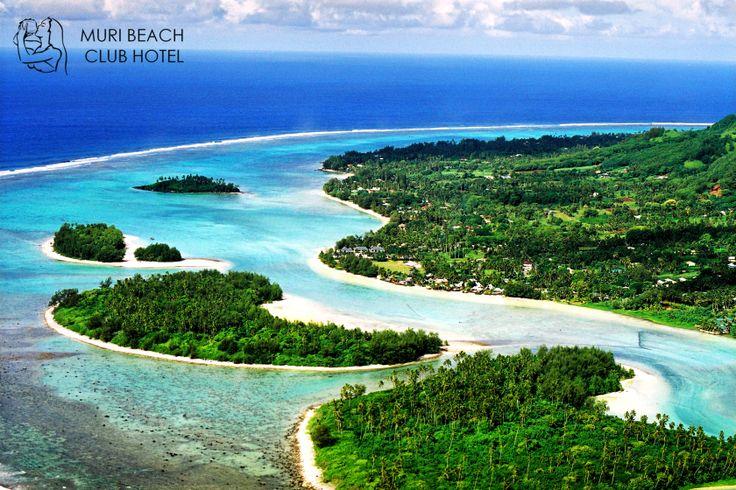 Beautiful Aerial shot of our backyard at Muri Beach club Hotel! #muribeachclubhotel #lagoon #beach #island #reef