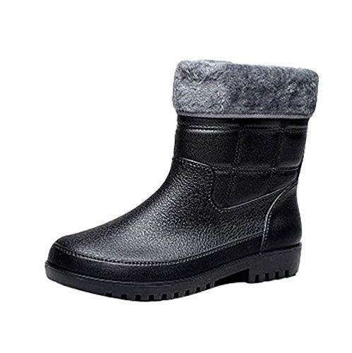 Oferta: 30.09€. Comprar Ofertas de LvRao Boots Altura Mitad de los Hombres Botas de Lluvia y Nieve a Prueba de Agua   Botas Brillante Zapatos de Goma Botines de barato. ¡Mira las ofertas!