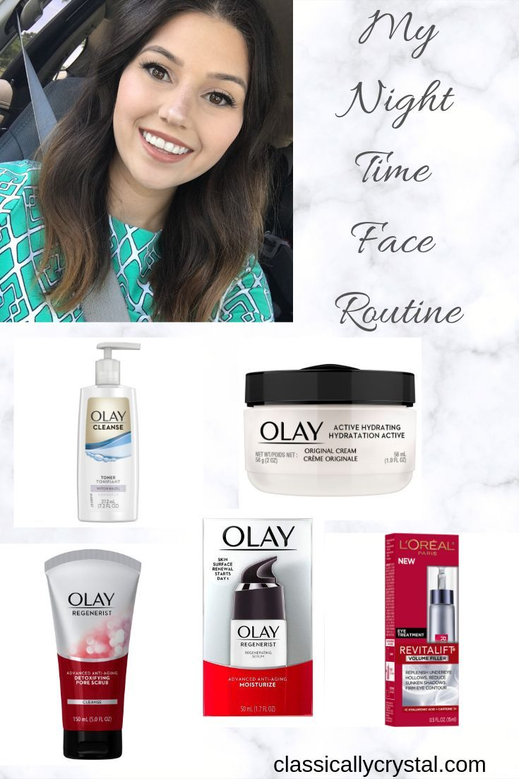 The products I use in my night time face routine t…