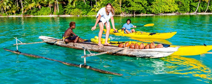 Kayak or canoe... if you can paddle you can do either in Papua New Guinea! Best place to Kayak is in New Ireland Province. #PapuaNewGuinea #travel www.papuanewguinea.travel