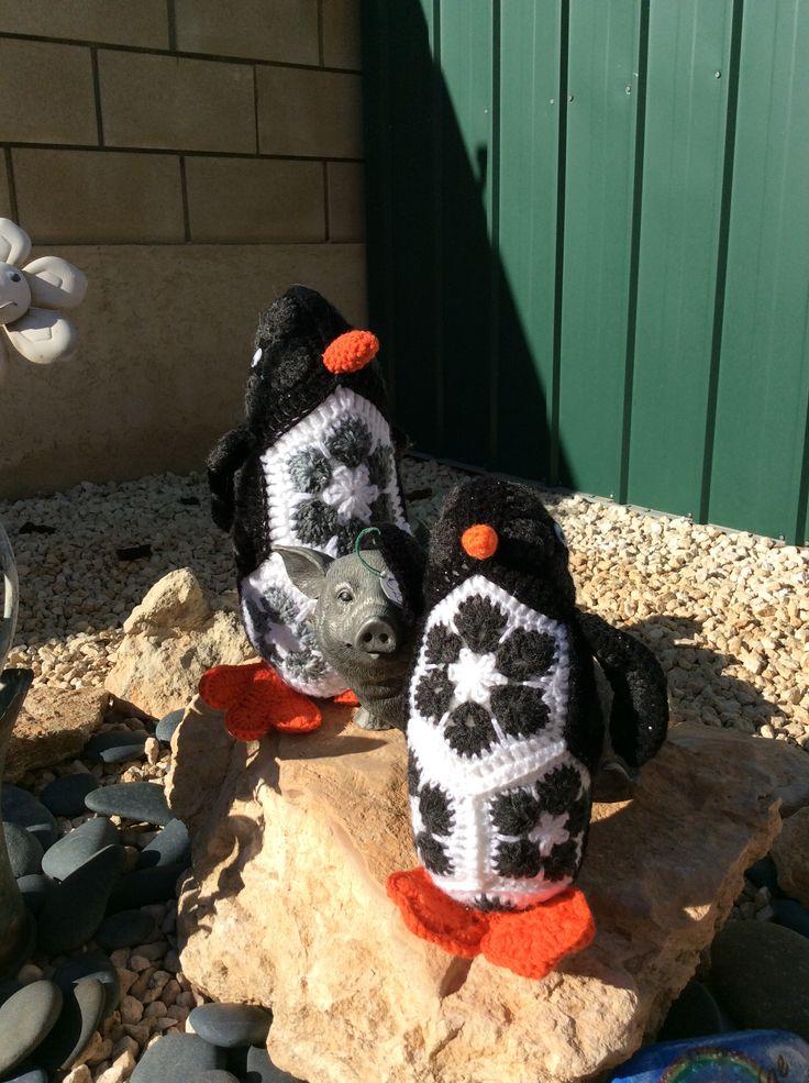 Heidi Bears African Flower Penguin www.facebook.com/hookedonhandicrafts