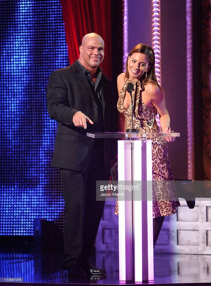 Kurt Angle and Krista Allen during Spike TV's 'Scream Awards 2006' - Show at Pantages Theater in Hollywood, California, United States.