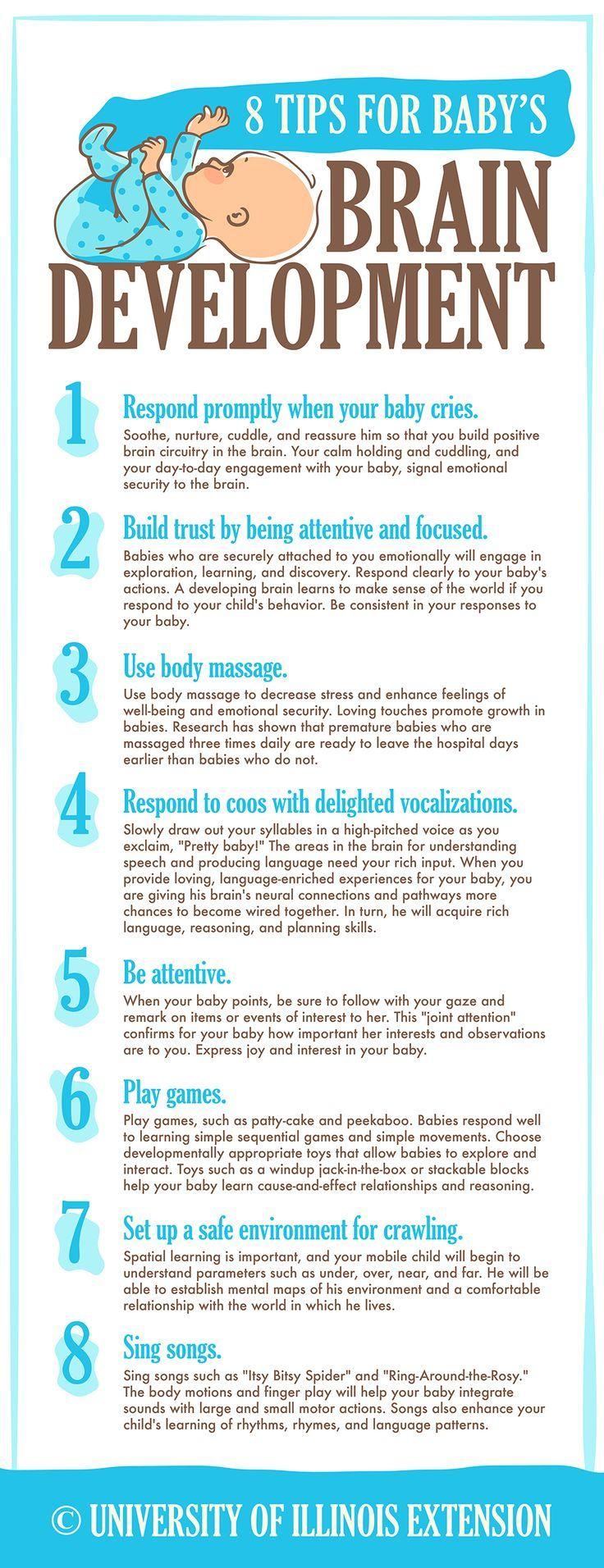 8 Tips for Baby's Brain Development #health