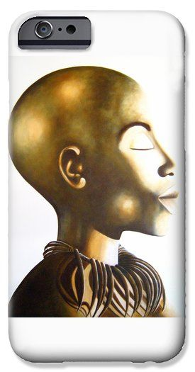 African Elegance Sepia iPhone 6 Case by Tracey Armstrong