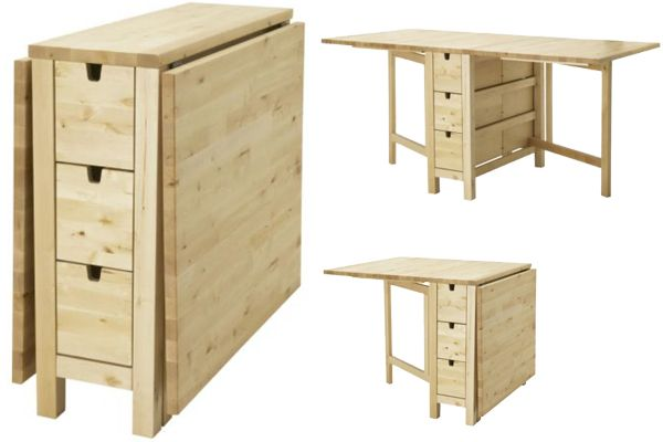 From end table console to dinner table for 4. 5Corners - Space Saving Furniture
