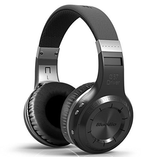 Bluedio HT Black Safari Starting New Smart Version 4.1 Bluetooth Wireless Stereo Music Headphone Earphone Sport headset. Comfortable wearing: Custom fit supra-aural soft earmuffs, artificial protein leather of earmuffs simulated to human skin texture, ensure long lasting comfort in various rugged circumstances. Unexpected 57mm ultra-large dynamic drivers, turbine style housing, with iconic Bluedio surging low-frequency shock, let you feel the bass resonate deep in the chest, enjoying the...