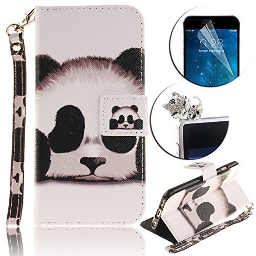 Etui Coque iPod Touch 5 / 6, Sunroyal® Housse Bookstyle Portefeuille Strap Case Cover PU Cuir pour Apple iPod Touch 5 / 6 Couvrir Skin…
