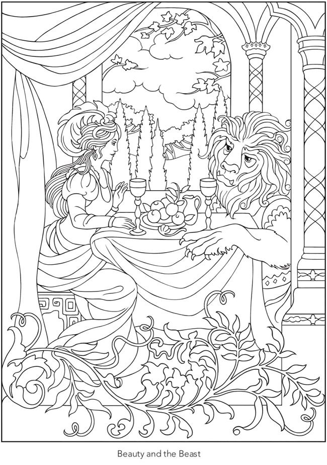 Creative Haven Enchanting Fairy Tale Scenes Coloring Book 6 Sample Pages