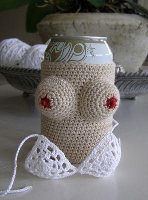 Halager: DIY - Gaven til drengerøven: Hæklet cover til øl/sodavandsdåser