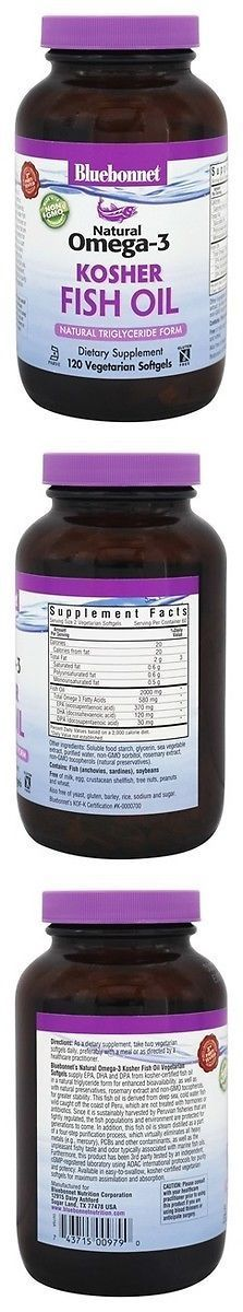 Vitamins and Minerals: Bluebonnet - Natural Omega-3 Kosher Fish Oil 120 Sg 400Cc -> BUY IT NOW ONLY: $31.16 on eBay!