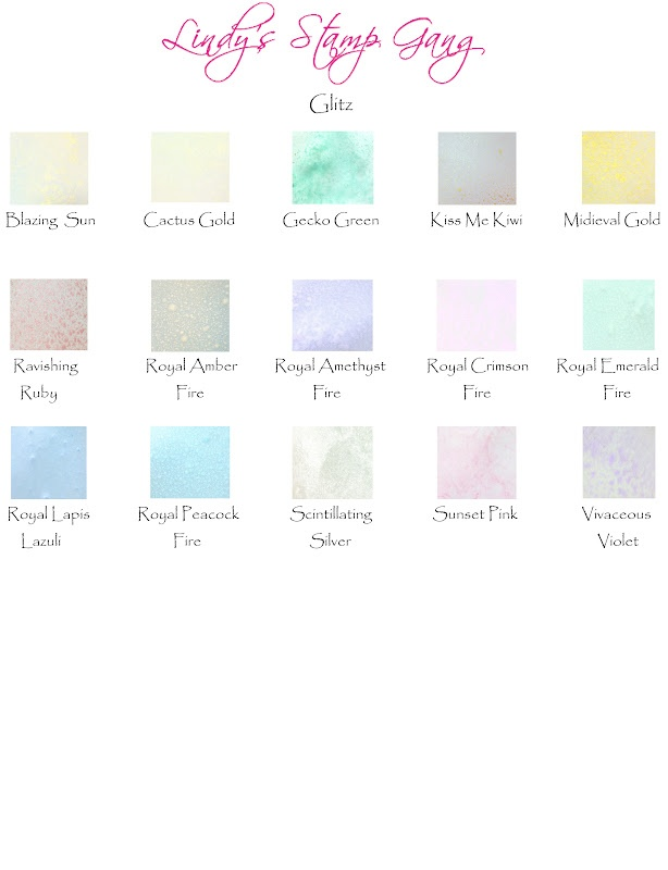 Lindy's Stamp Gang: LSG Color Charts