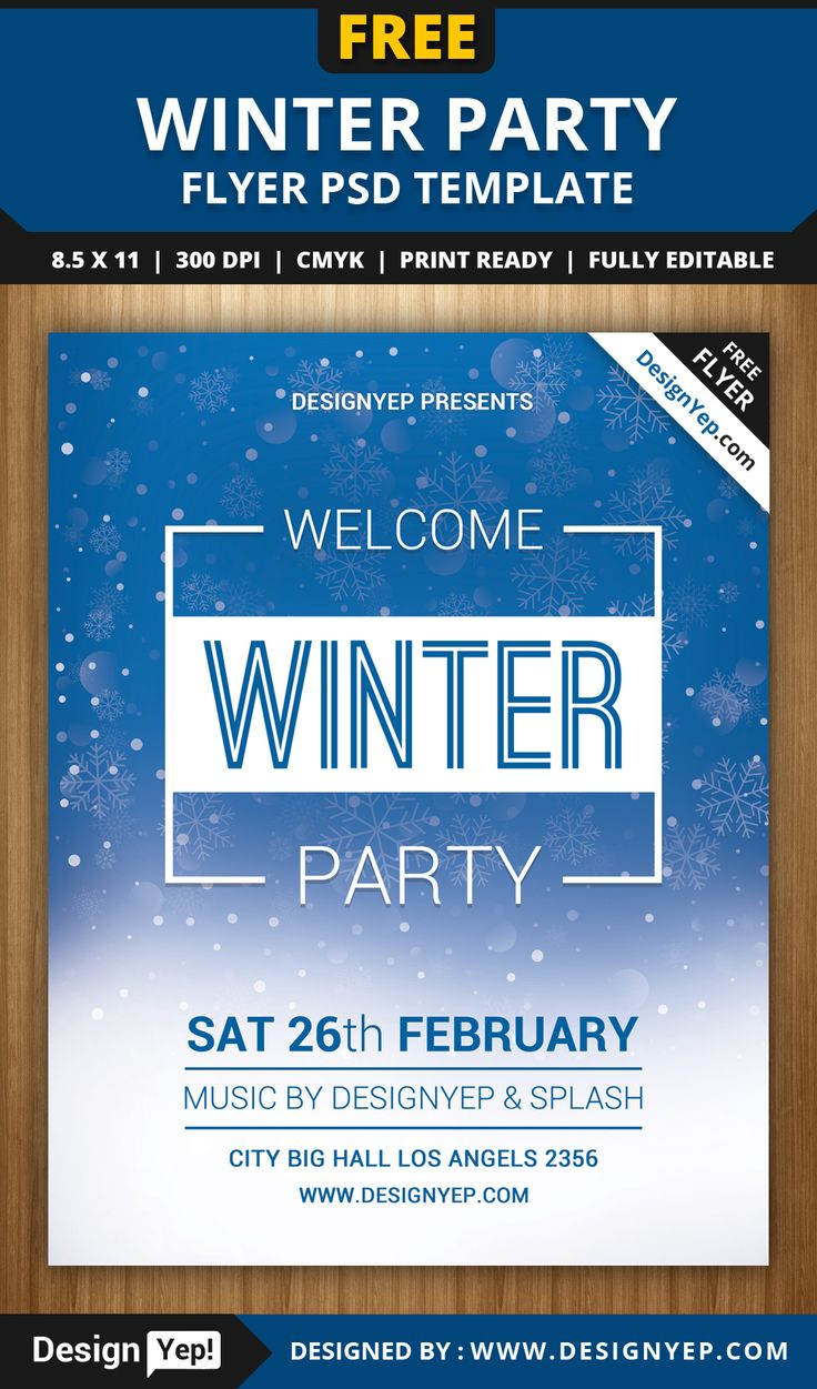 17 best images about flyers flyer template winter welcome party flyer psd template designyep