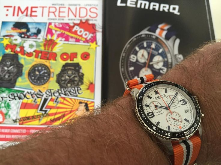The perfect summer watch. Order your Monza Chrono at www.lemarqwatches.com. Photo by Timetrends