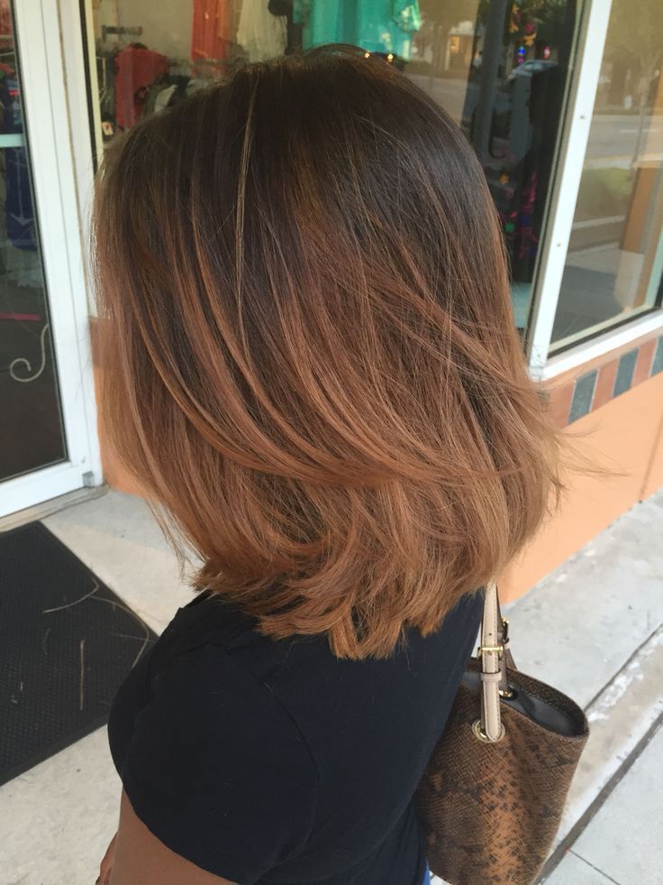 Ombré with layered long bob