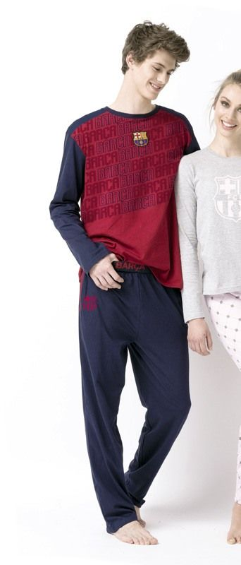 Pijama del BARCELONA para hombre. Producto con licencia oficial, no es una copia. 100% Algodón. Envío en 24/48hs. Más equipos en varelaintimo.com