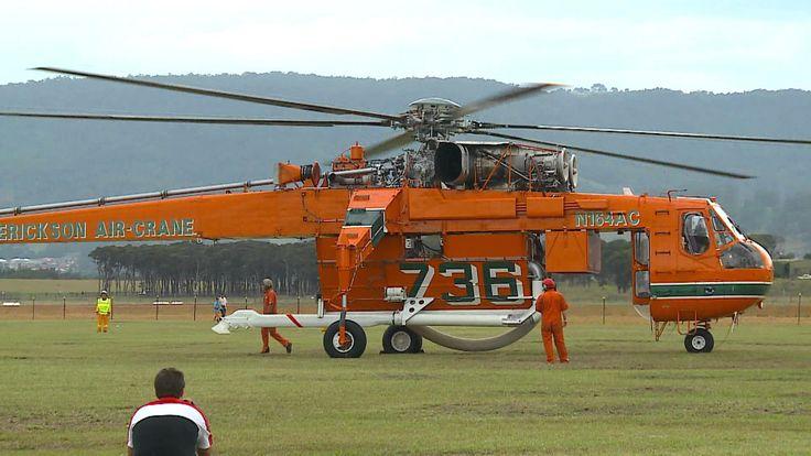 Sikorsky-Erickson Air Crane - Incredible Hulk Take Off, via YouTube.